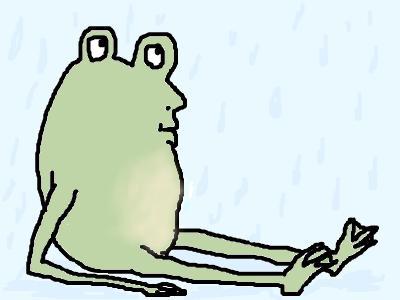 雨の日は気がめいってかなわんね